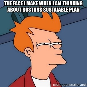 Futurama Fry - the face i make when i am thinking about bostons sustaiable plan