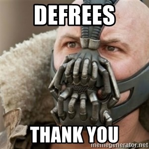 Bane - Defrees Thank you
