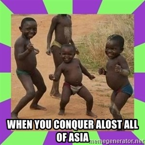 african kids dancing - when you conquer alost all of asia