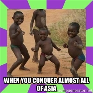 african kids dancing - when you conquer almost all of asia
