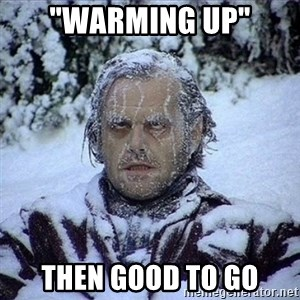 """Frozen Jack - """"warming up"""" then good to go"""