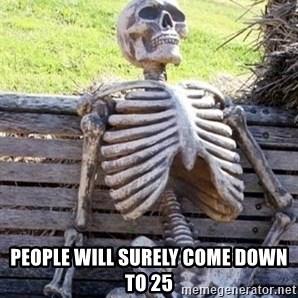 Waiting For Op - PEOPLE WILL SURELY COME DOWN to 25