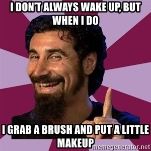 Serj Tankian - I don't always wake up, but when I do I grab a brush and put a little makeup