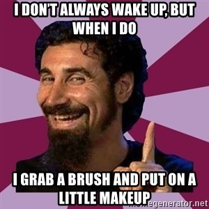 Serj Tankian - I don't always wake up, but when I do  I grab a brush and put on a little makeup