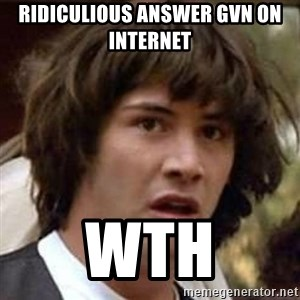 Conspiracy Keanu - Ridiculious answer gvn on internet  WTH