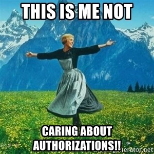 Look at All the Fucks I Give - This is me not  caring about authorizations!!