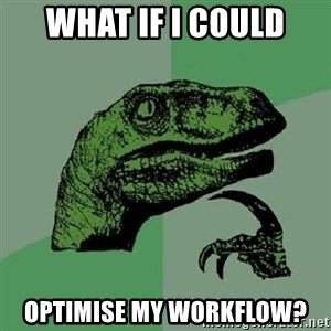 Philosoraptor - WHAT IF I COULD OPTIMISE MY WORKFLOW?