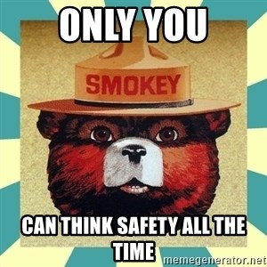 Smokey the Bear - only you can think safety all the time