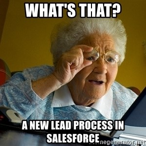 Internet Grandma Surprise - What's that? A new lead process in Salesforce