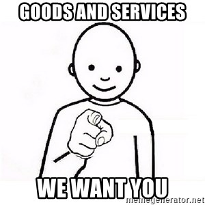 GUESS WHO YOU - Goods and Services  WE want you