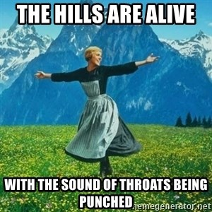 Look at All the Fucks I Give - The hills are alive  With the sound of throats being punched