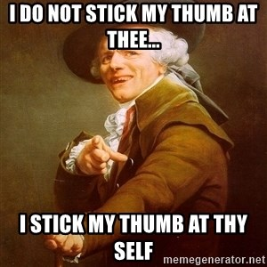 Joseph Ducreux - i do not stick my thumb at thee... I stick my thumb at thy self
