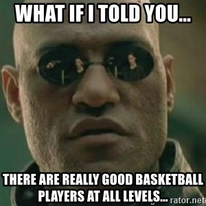 Nikko Morpheus - WHAT IF I TOLD YOU... There are really good basketball players at all levels...