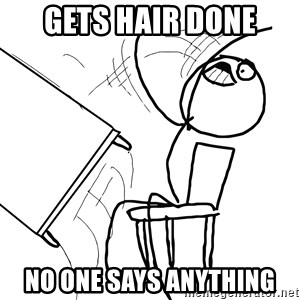 Desk Flip Rage Guy - gets hair done no one says anything