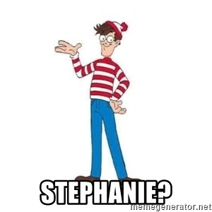 Where's Waldo - Stephanie?