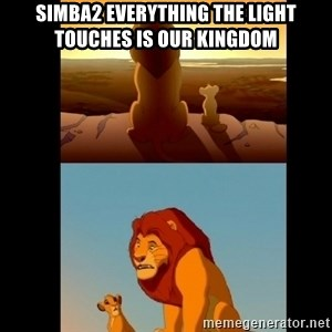 Lion King Shadowy Place - Simba2 everything the light touches is our kingdom