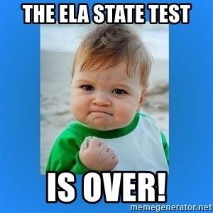 yes baby 2 - The ELA State Test is Over!