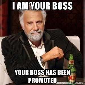 The Most Interesting Man In The World - I am your boss your boss has been promoted