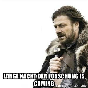 Prepare yourself - Lange Nacht der Forschung is coming
