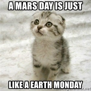 Can haz cat - A Mars Day Is Just  Like A Earth Monday