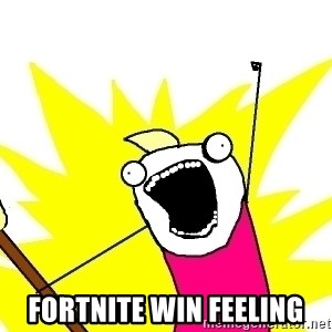 X ALL THE THINGS - Fortnite Win Feeling