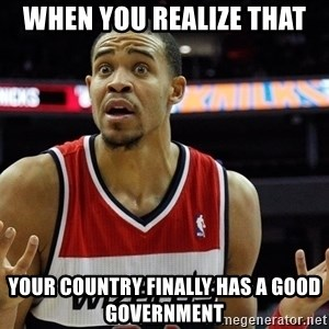 Basketball JaVale Mcgee - When you realize that Your country finally has a good government