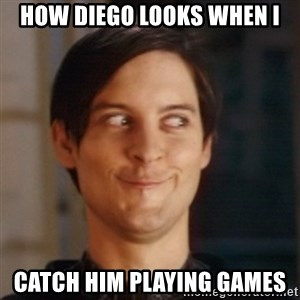 Peter Parker Spider Man - How Diego looks when I Catch him playing games