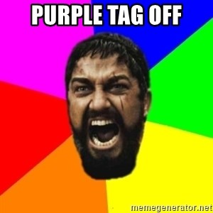 sparta - purple tag off
