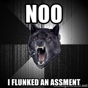 Insanity Wolf - noo i flunked an assment