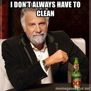 The Most Interesting Man In The World - I don't always have to clean