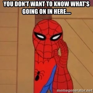 Spidermanwhisper - You don't want to know what's going on in here....