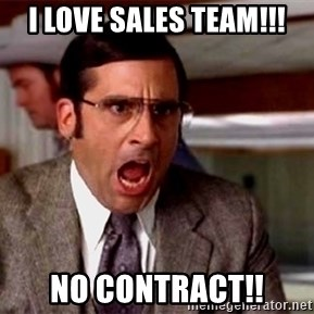 brick tamland - i love sales team!!! no contract!!