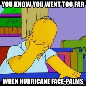 Homer Facepalm - You know you went too far When Hurricane face-palms