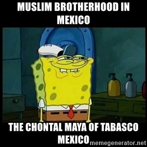 Don't you, Squidward? - Muslim Brotherhood in Mexico  The Chontal Maya of Tabasco Mexico