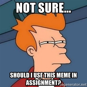 Not sure if troll - not sure... should I use this meme in assignment?