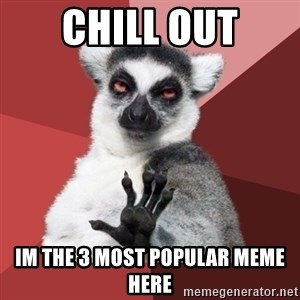 Chill Out Lemur - Chill out im the 3 most popular meme here