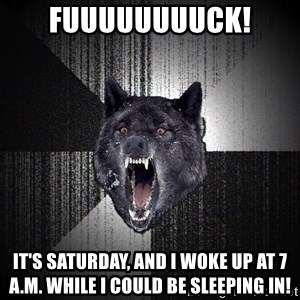 Insanity Wolf - FUUUUUUUUCK! It's Saturday, and I woke up at 7 A.M. while I could be sleeping in!