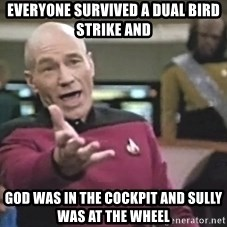 Captain Picard - Everyone Survived A Dual Bird Strike and  God was In The Cockpit and Sully was at the Wheel