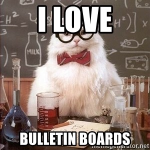 Chemistry Cat - I Love Bulletin Boards