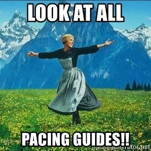 Look at all the things - Look at all  pacing guides!!