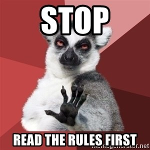 Chill Out Lemur - STOP READ THE RULES FIRST