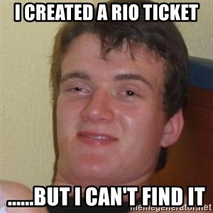 Stoner Stanley - I created a RIO ticket ......but I can't find it
