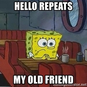 Coffee shop spongebob - Hello repeats My old friend