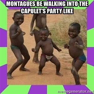 african kids dancing - Montagues be walking into the Capulet's party like