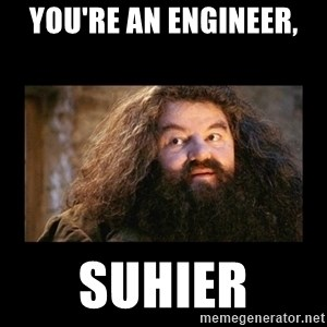 You're a Wizard Harry - You're an Engineer, Suhier