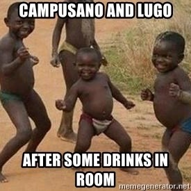 african children dancing - Campusano and Lugo  after some drinks in room