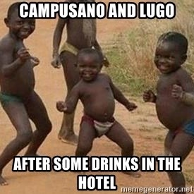 african children dancing - Campusano and Lugo  after some drinks in the hotel