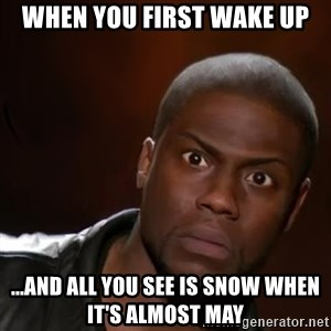 kevin hart nigga - When you first wake up ...and all you see is snow when it's almost may