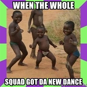 african kids dancing - when the whole squad got da new dance