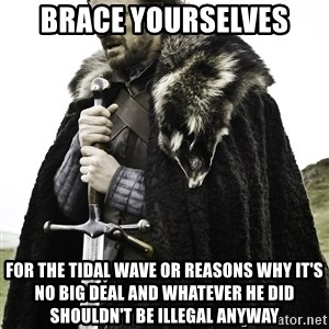 Sean Bean Game Of Thrones - Brace yourselves for the tidal wave or reasons why it's no big deal and whatever he did shouldn't be illegal anyway